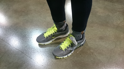 This is a huge bargain! From $180 down to 40. This Saucony Ignition 4 has really soft soles and has a good grip. Very nice for running or other active sports.